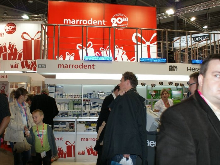Company stand MARRODENT Sp. z o.o. on trade show CEDE 2010