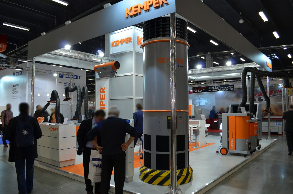 Company stand KEMPER Sp. z o.o. on trade show SPAWALNICTWO 2016