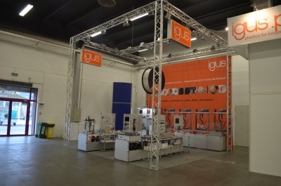 Company stand IGUS Sp. z o.o. on trade show DNI DRUKU 3D 2016