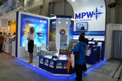 Company stand MPW Med. Instruments on trade show EuroLab & Crimelab 2016