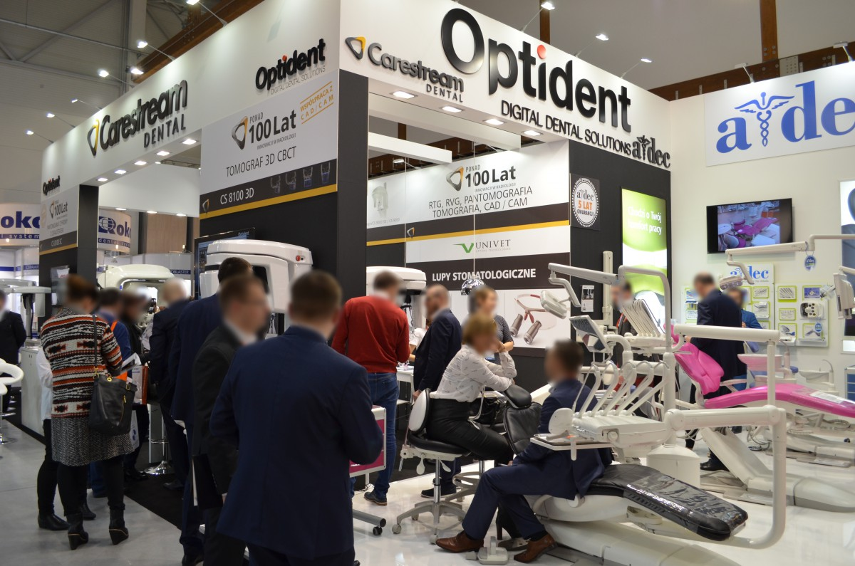 Company stand OPTIDENT M. Foubert, D. Stój Sp.j. on trade show KRAKDENT 2016