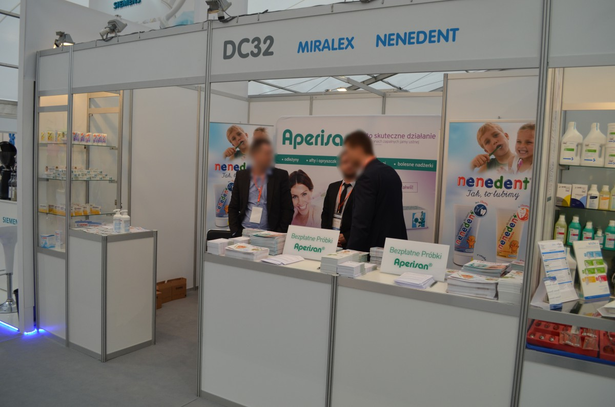 Company stand MIRALEX Sp. z o.o. on trade show KRAKDENT 2016