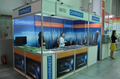Company stand CHIRMED  on trade show KRAKDENT 2016