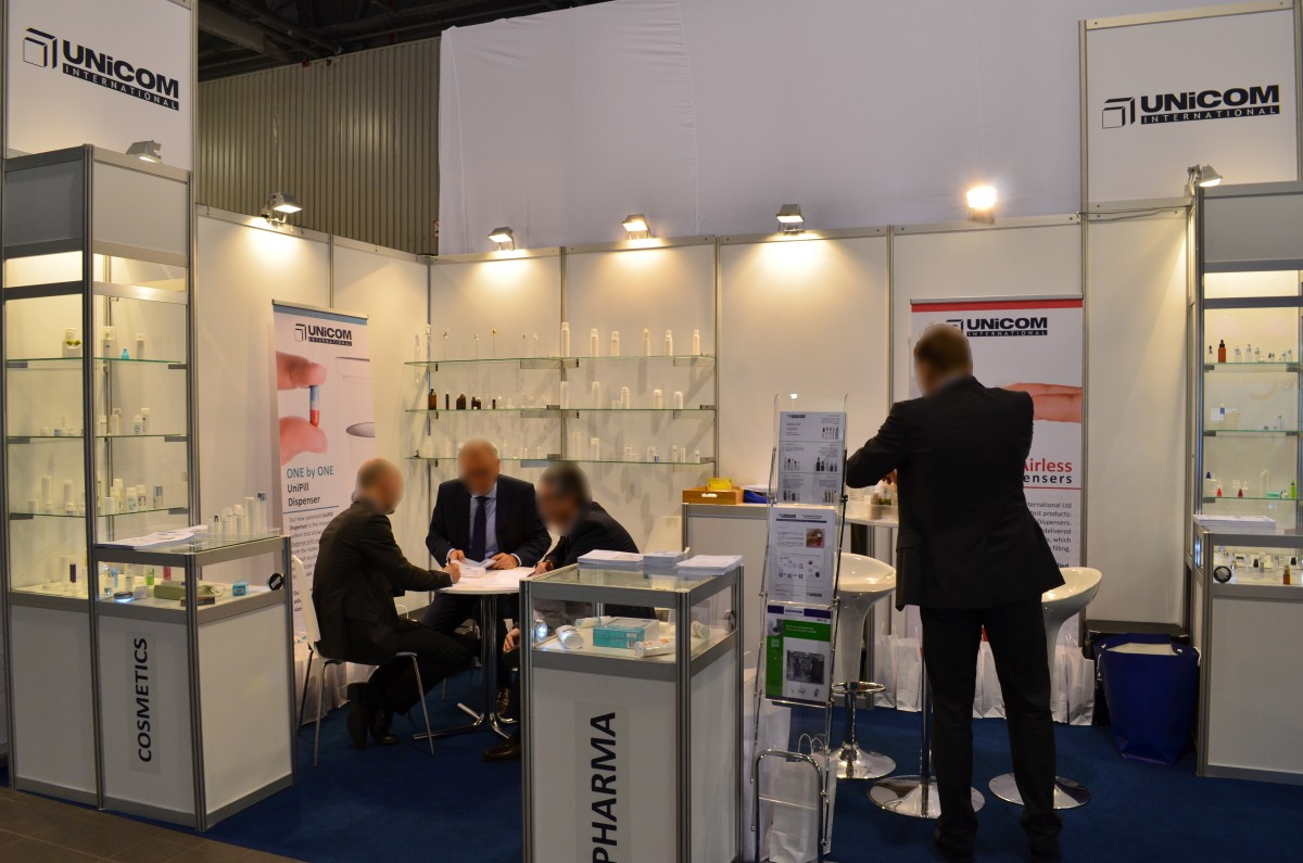 Company stand UNICOM INTERNATIONAL Sp. z o.o. on trade show PACKAGING INNOVATIONS WARSZAWA 2016
