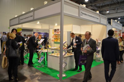 Company stand Flanders Investment & Trade on trade show WorldFood Poland 2016