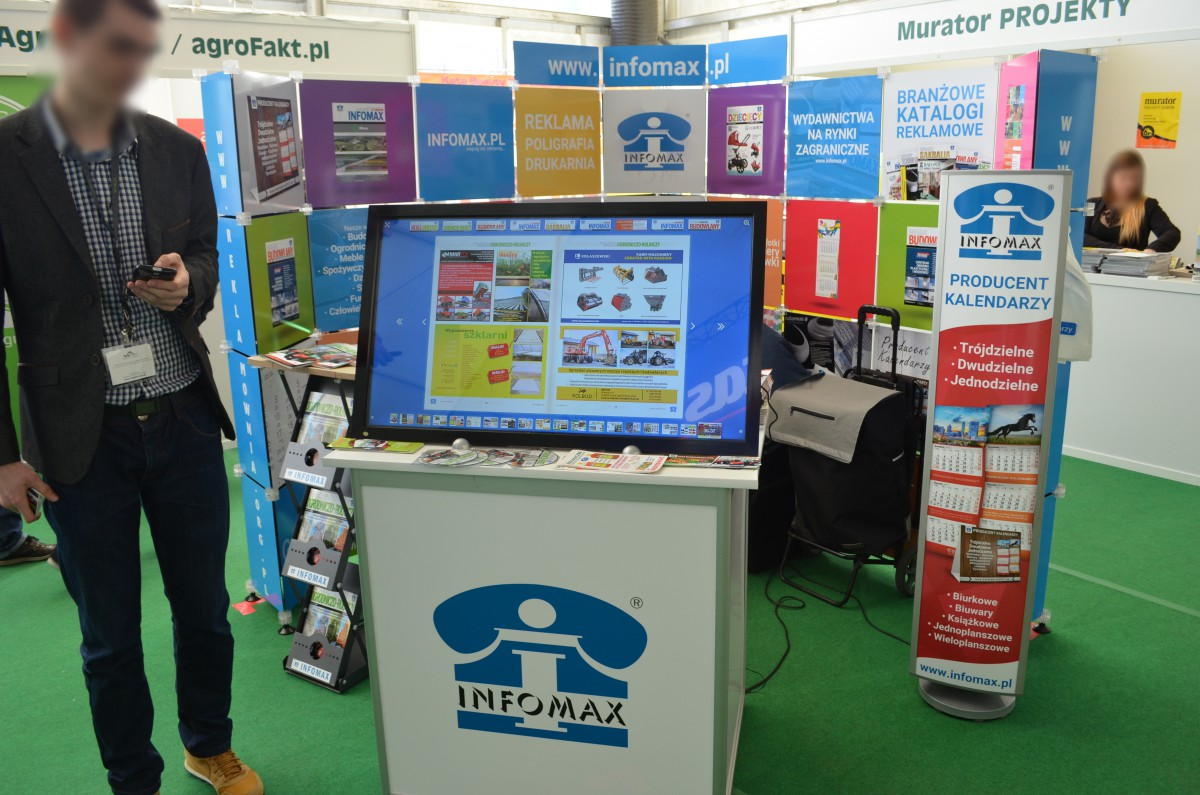 Company stand Infomax Sp.j. on trade show AGROTECH & LAS-EXPO 2016