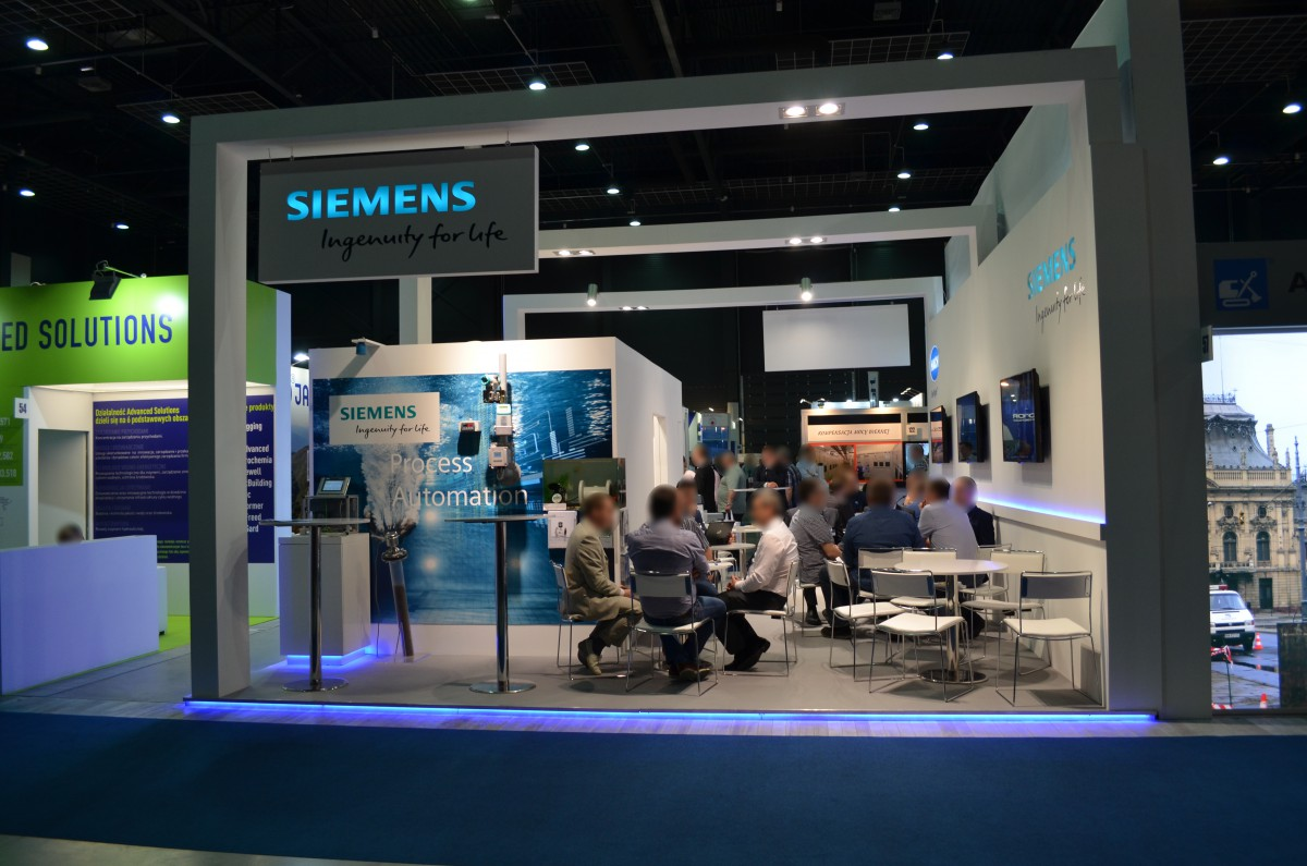 Company stand SIEMENS Sp. z o.o on trade show WOD-KAN 2016