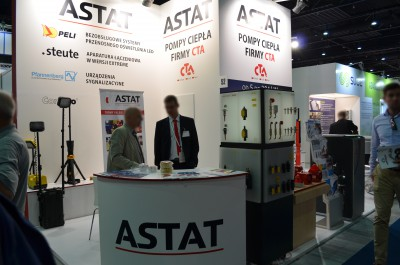 Company stand ASTAT Sp. z o.o. on trade show WOD-KAN 2016