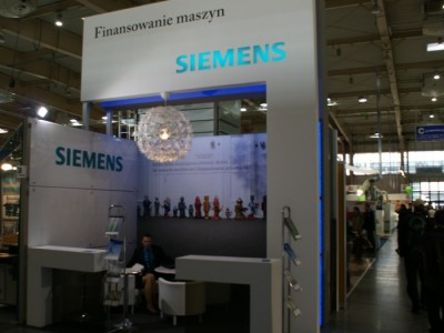 Company stand SIEMENS Sp. z o.o on trade show DREMA 2011