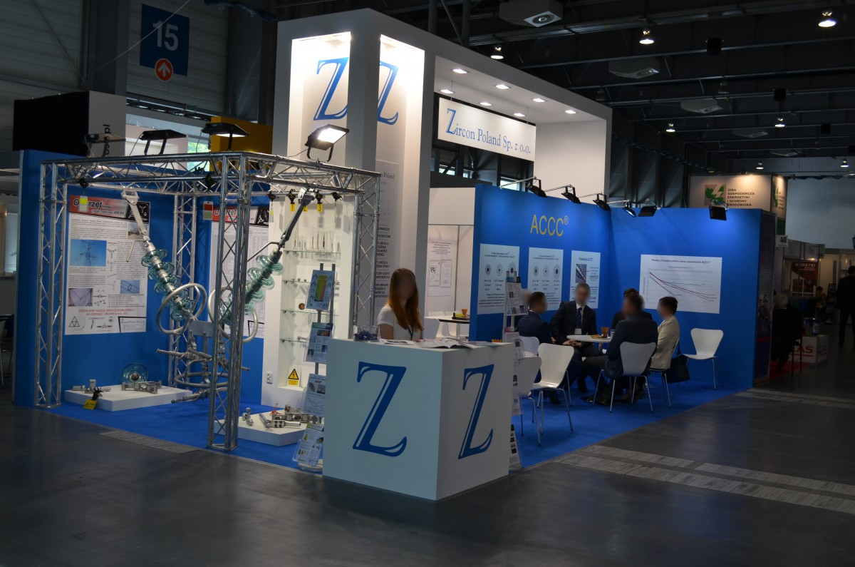Company stand Zircon Poland Sp. z o.o. on trade show EXPOPOWER 2016