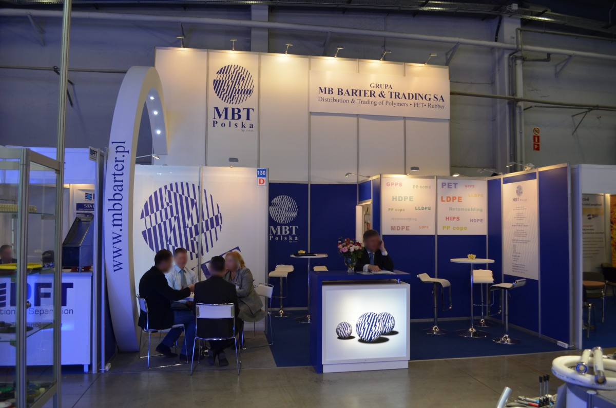 Company stand MBT Polska Sp. z o.o. on trade show PLASTPOL 2016