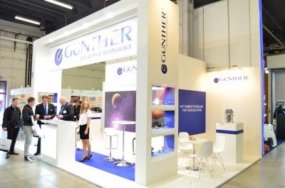 Company stand GUNTHER Heisskanaltechnik on trade show PLASTPOL 2016