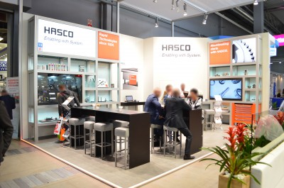 Company stand HASCO POLSKA Sp. z o.o. on trade show PLASTPOL 2016