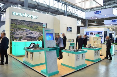 Company stand MEUSBURGER GEORG GmbH & Co KG Standard moulds on trade show PLASTPOL 2016