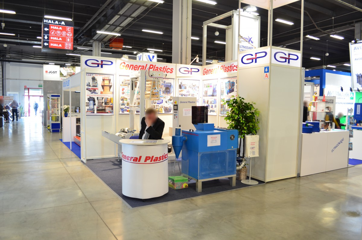 Company stand General Plastics Sp. z o.o. on trade show PLASTPOL 2016