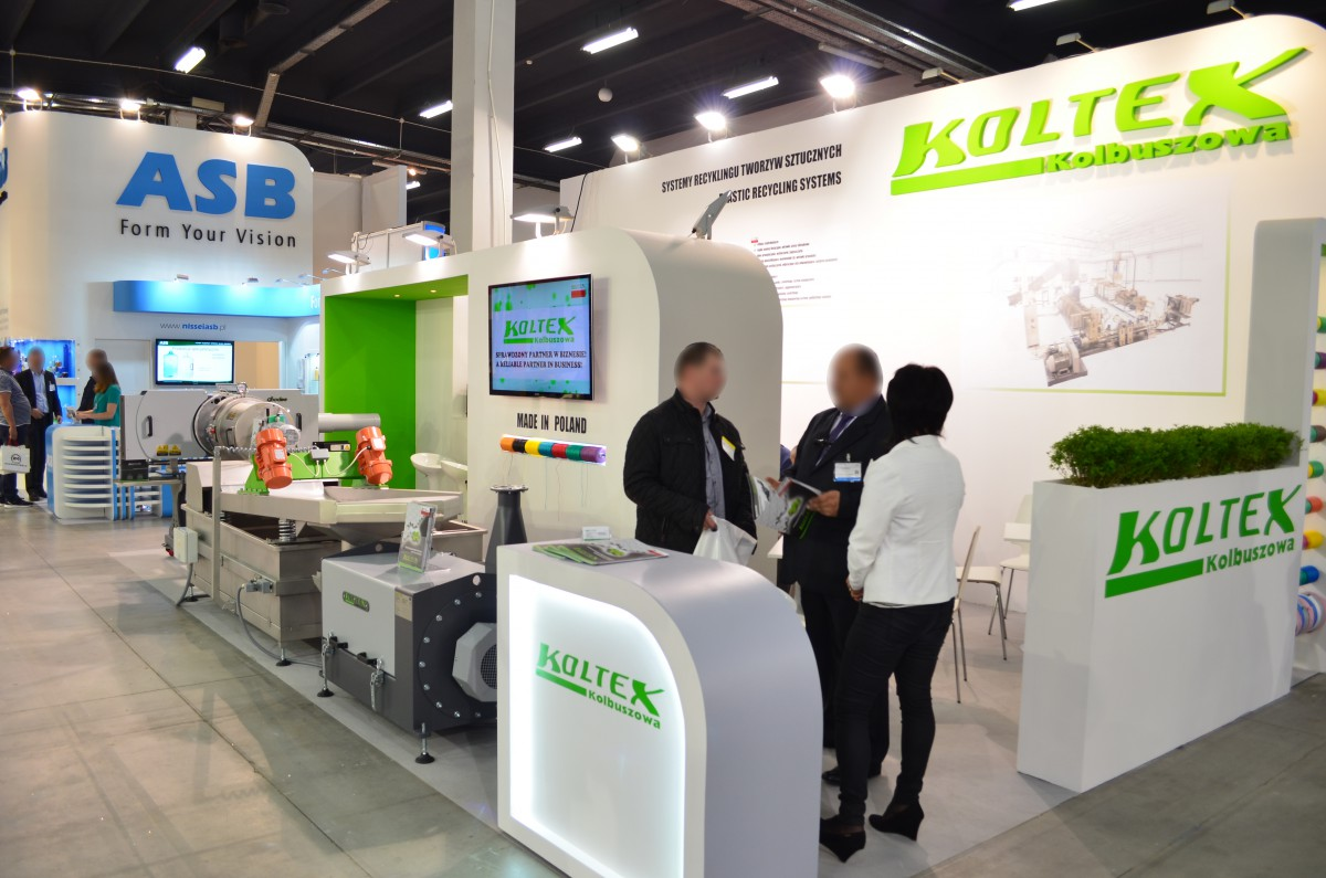 Company stand KOLTEX Sp. z o.o. on trade show PLASTPOL 2016