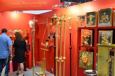 Company stand PRACOWNIA BRĄZOWNICZA M&G on trade show SACROEXPO & EXPOSITIO 2016
