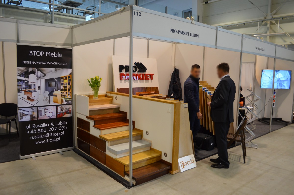 Company stand Pro-Parkiet S.C. on trade show LUBDOM 2016