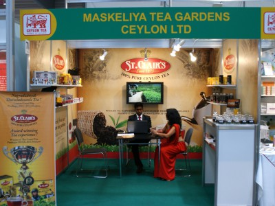 Company stand MASKELIYA TEA GARDENS CEYLON Ltd. on trade show POLAGRA - FOOD 2013