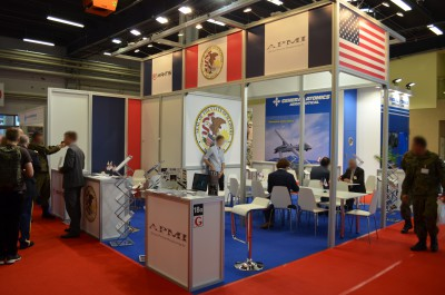 Company stand STATE OF ILLINOIS CENTRAL EUROPEAN OFFICE on trade show MSPO & LOGISTYKA 2016