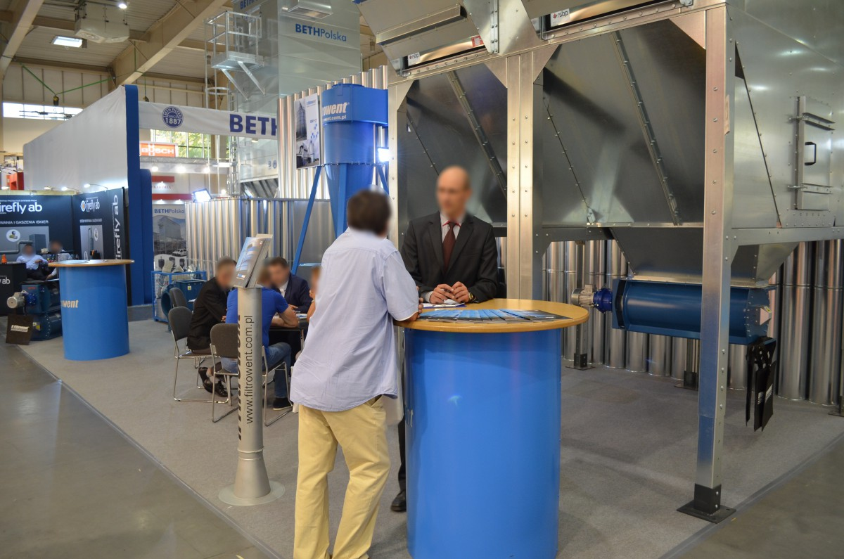 Company stand FILTROWENT s.c. R. Jung, T. Łangowicz on trade show DREMA 2016