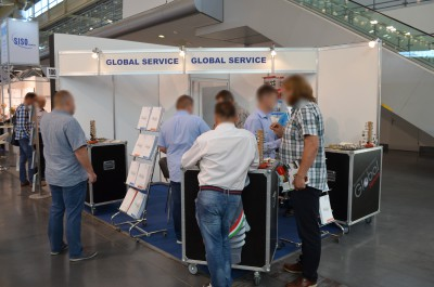 Company stand GLOBAL SERVICE on trade show FURNICA 2016
