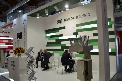 Company stand Tavrida Electric Polska Sp. z o.o. on trade show ENERGETAB 2016