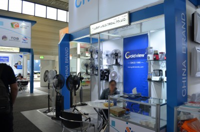 Company stand Goldview Electrical Co., Ltd on trade show IFA BERLIN 2016