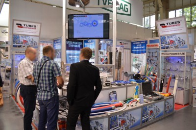 Company stand TUBES International Sp. z o.o. on trade show POLAGRA-TECH 2016