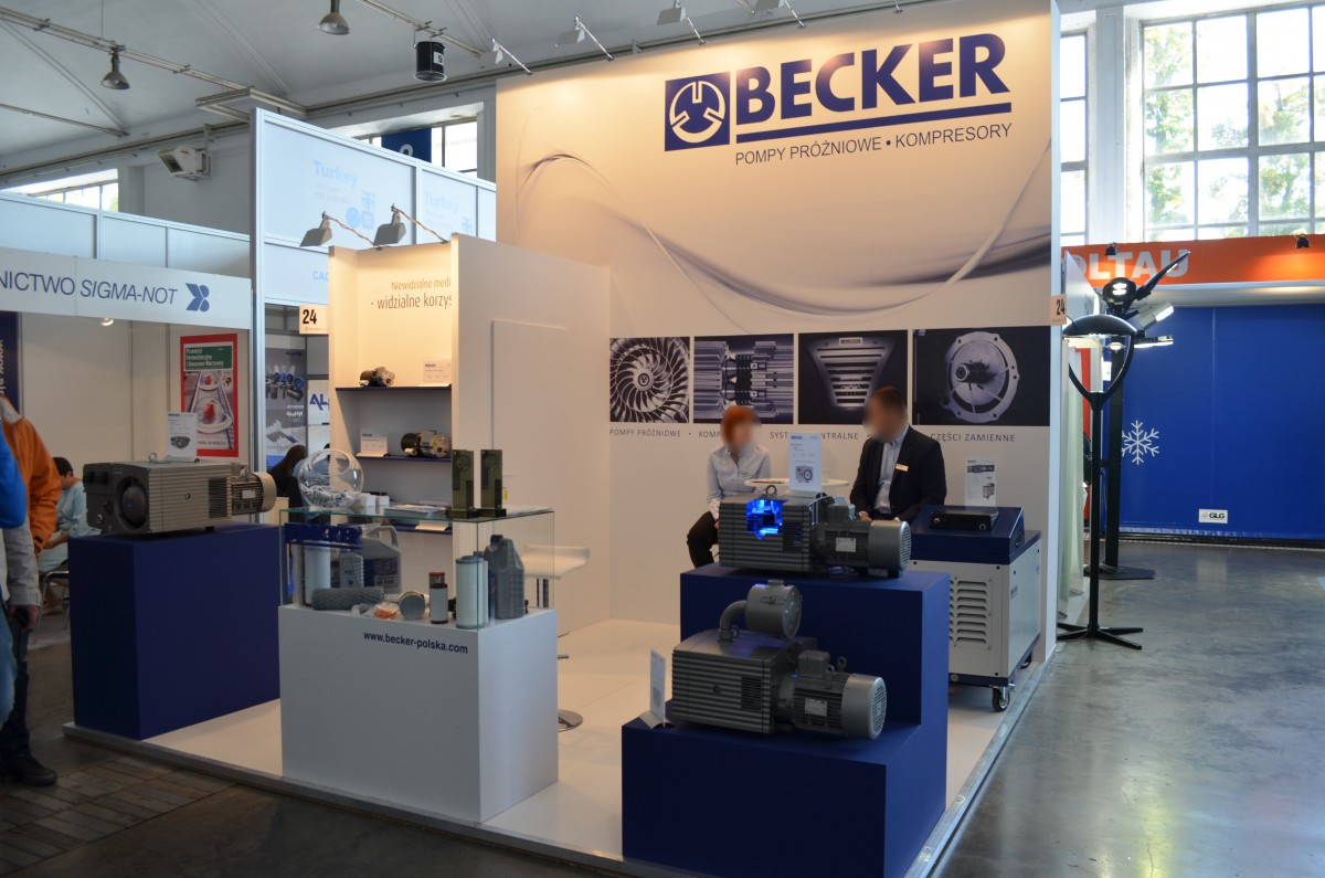 Company stand BECKER POLSKA Sp. z o.o. on trade show POLAGRA-TECH 2016