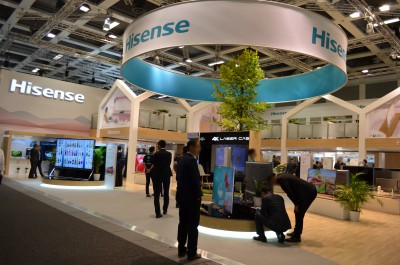Stoisko firmy Hisense International (HK) Co., Ltd na targach IFA BERLIN 2016