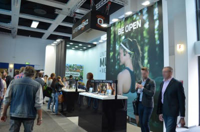 Company stand AfterShokz on trade show IFA BERLIN 2016
