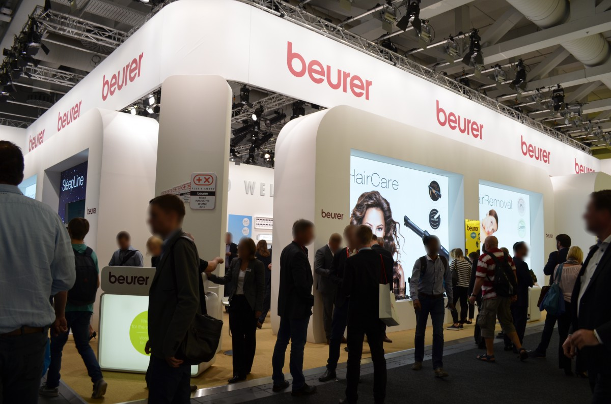 Company stand Beurer GmbH on trade show IFA BERLIN 2016