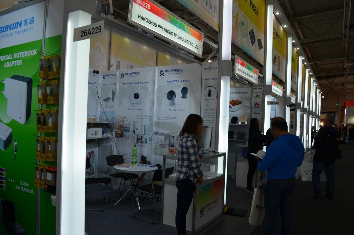 Company stand Hangzhou PPStrong Technology Co., Ltd. on trade show IFA BERLIN 2016