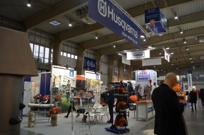 Company stand HUSQVARNA POLAND Sp. z o.o. on trade show POL-ECO-SYSTEM 2016