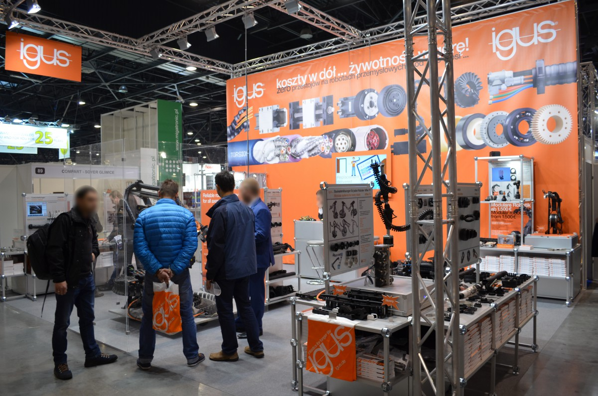 Company stand IGUS Sp. z o.o. on trade show ExpoWELDING & SteelMET & LASERexpo & FixingTECH EXPO & ROBOTshow &SURFPROTECT 2016