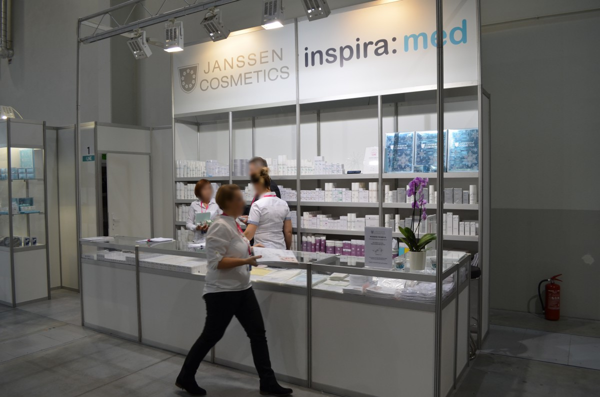 Company stand JANSSEN COSMETICS POLSKA on trade show LNE & SPA 2016