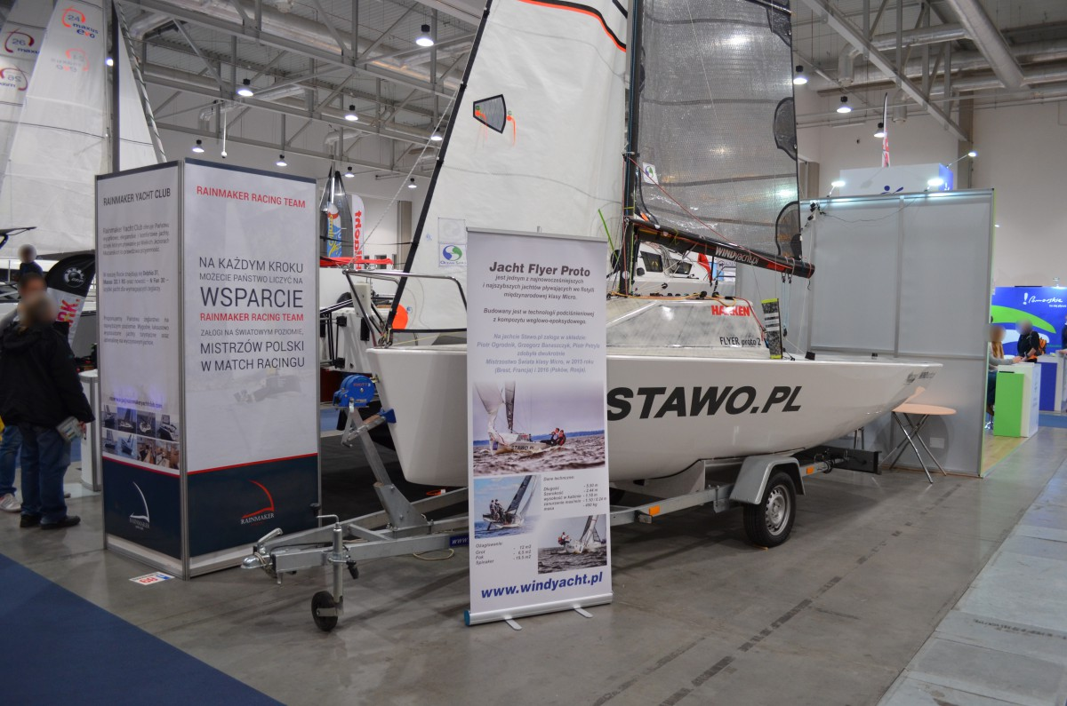 Company stand WIND YACHT on trade show Boatshow 2016