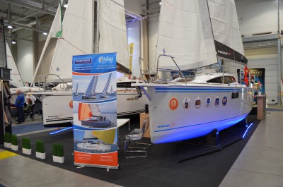 Company stand AHOJ CZARTER on trade show Boatshow 2016