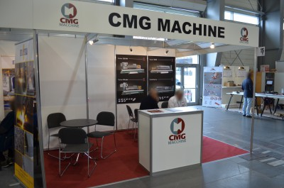 Company stand CMG MACCHINE on trade show STONE 2016