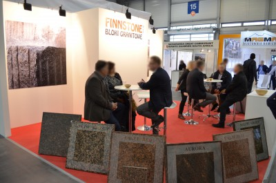 Company stand FINNSTONE Sp. z o.o. on trade show STONE 2016