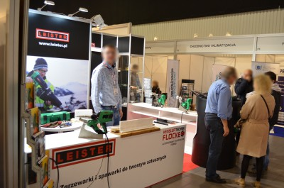 Company stand Heisslufttechnik Flocke Sp. z o.o. on trade show Warsaw Build & Aqua-Therm Warsaw 2016