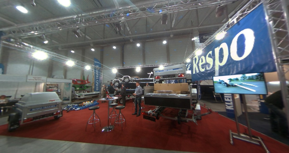 Company stand Respo Haagised AS on trade show BOATSHOW 2012