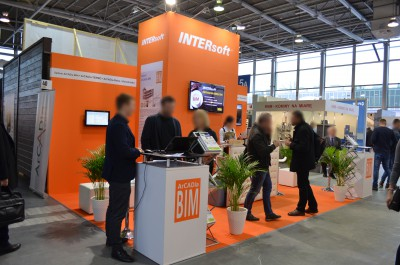 Company stand INTERsoft Sp. z o.o. on trade show BUDMA 2017