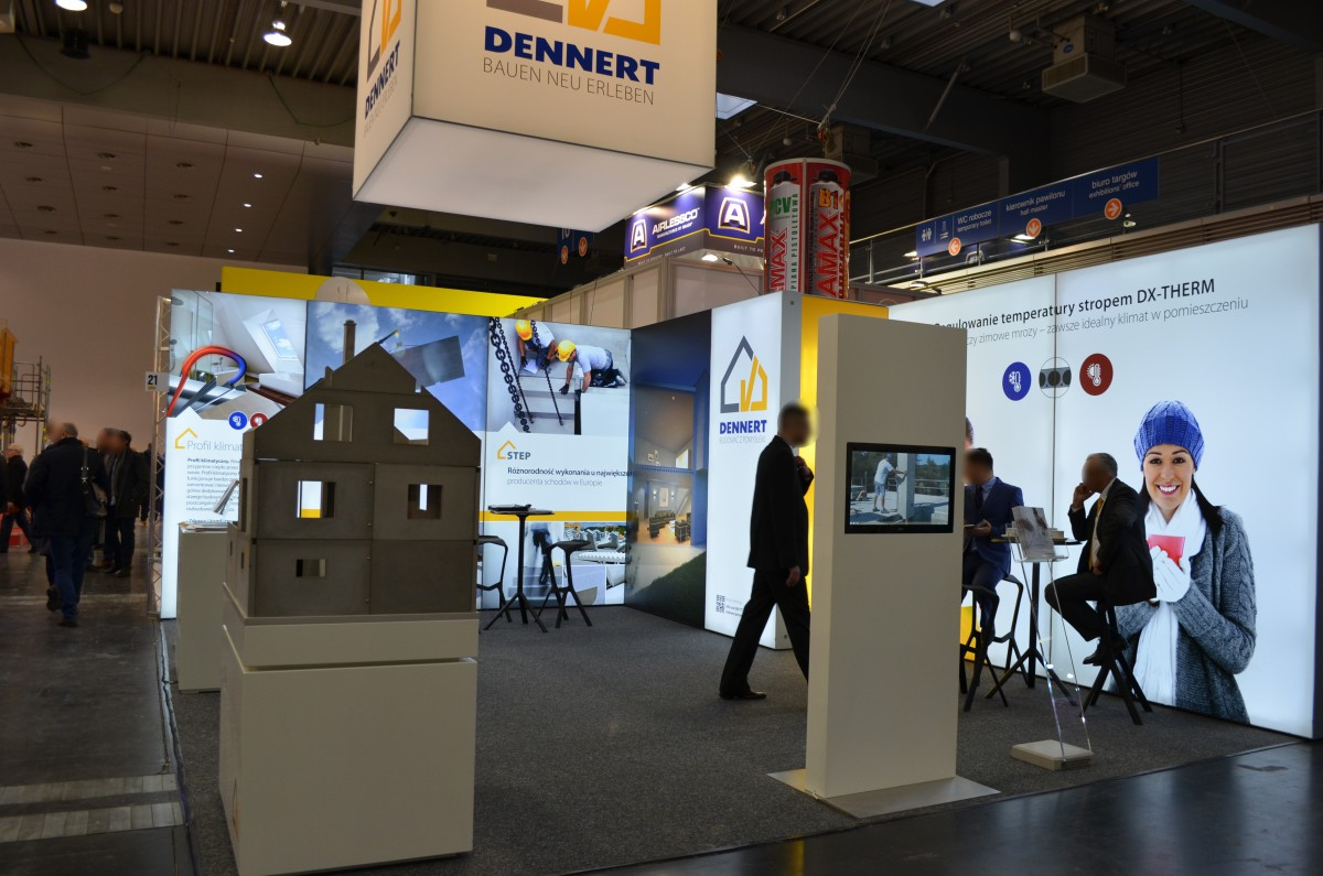 Company stand DENNERT BAUSTOFFWELT GmbH & Co. KG on trade show BUDMA 2017