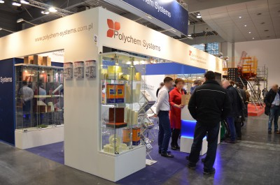 Company stand POLYCHEM SYSTEMS Sp. z o.o. on trade show BUDMA 2017