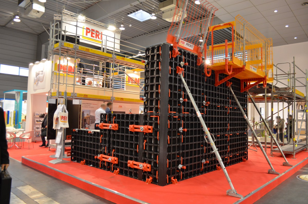 Company stand PERI POLSKA Sp. z o.o. on trade show BUDMA 2017