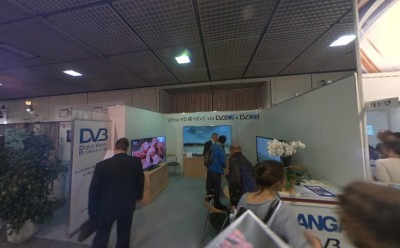 Company stand DVB on trade show IFA BERLIN 2013