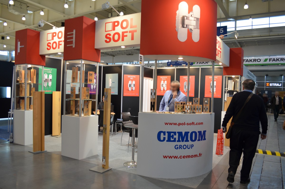 Company stand POL-SOFT Sp. z o.o. on trade show BUDMA 2017