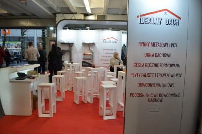 Company stand IDEALNY DACH Janecki Sp.j. on trade show BUDMA 2017